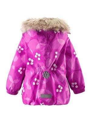 Куртка розовая в принт | 4856586