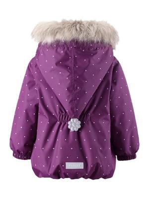 Куртка фиолетовая в принт | 4856587