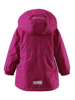Куртка розовая в принт | 4856601