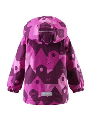 Куртка розовая в принт | 4856602