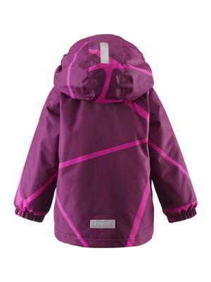 Куртка фиолетовая в принт | 4856621