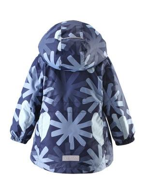 Куртка синяя в принт | 4856622