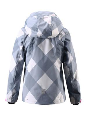 Куртка голубая в принт | 4856649