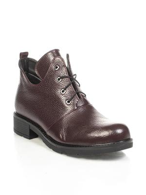 Ботинки бордовые | 4892124