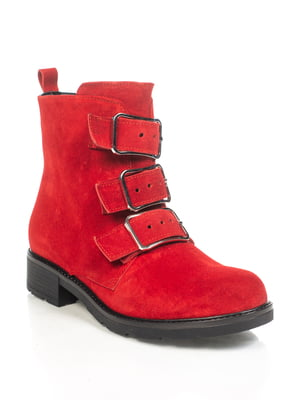 Ботинки красные   4892125
