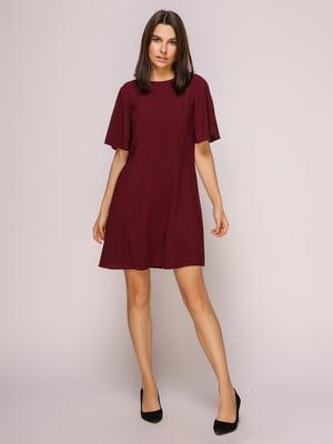 Платье бордовое | 4915529