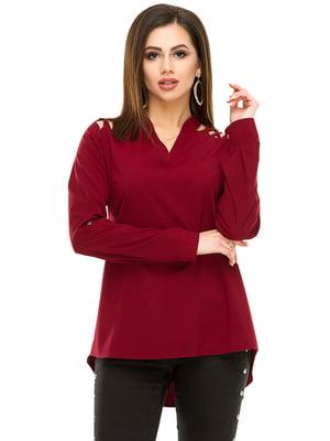 Блуза бордовая | 4917442