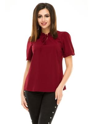 Блуза бордовая | 4917456