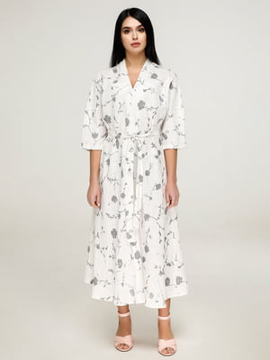 Сукня біла в квітковий принт   4917528