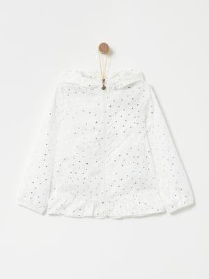 Куртка біла в принт | 4902855