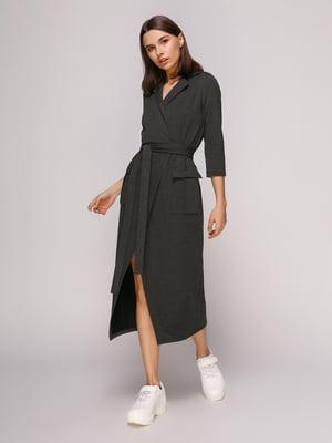 Платье темно-зеленое меланжевое | 4913066