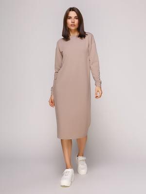 Платье темно-бежевое | 4913070