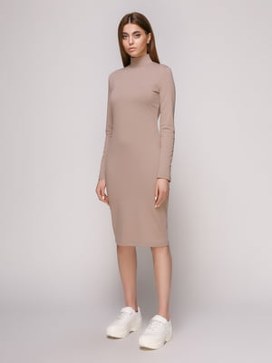 Платье темно-бежевое | 4913073