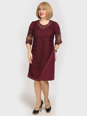 Сукня бордова | 4917799