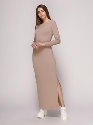 Платье темно-бежевое | 4913076