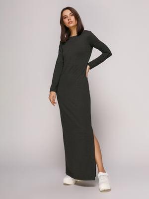 Платье темно-серое меланжевое | 4913078