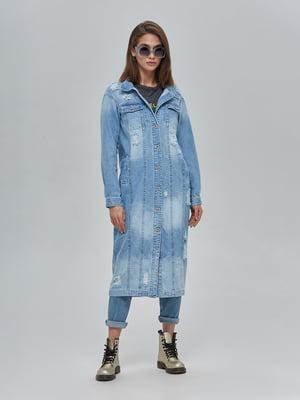 Плащ блакитний джинсовий | 4917994
