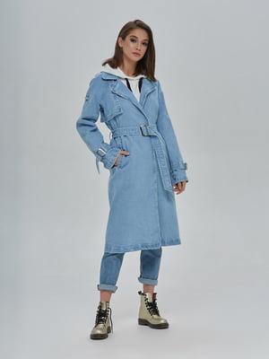 Плащ блакитний джинсовий | 4917996