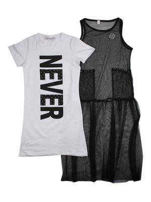 Сукня-двійка чорно-біла   4917951