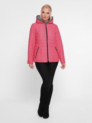 Куртка малинового цвета двусторонняя | 4918819