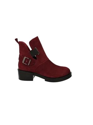 Ботинки бордовые | 4919842