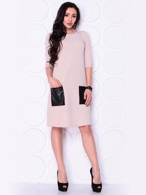 Платье бежевое | 4919784