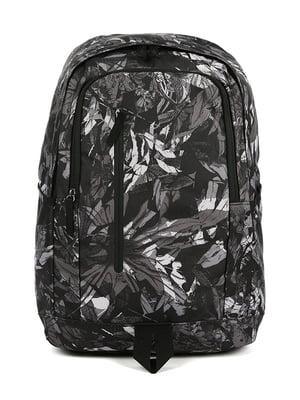 Рюкзак чорний в принт | 4921581