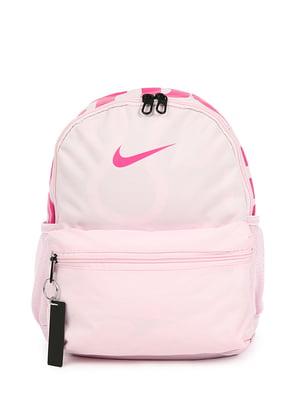 Рюкзак розовый с принтом | 4921595