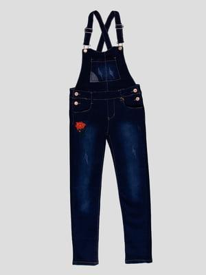 Комбінезон темно-синій джинсовий | 4919000