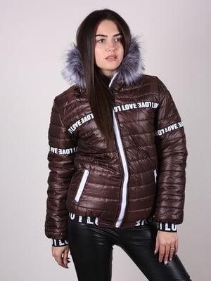 Куртка шоколадного цвета   4922468