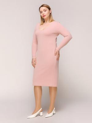 Платье цвета пудры | 4916125