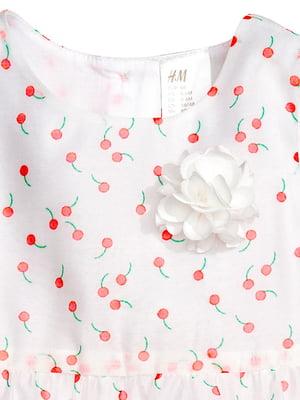 Сукня біла з принтом | 4923352