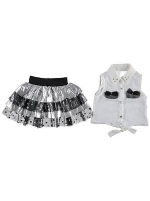 Комплект: блуза, майка и юбка | 4935139
