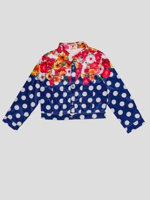 Куртка в горошек и цветочный принт | 4781351