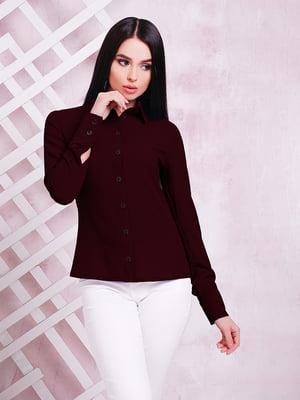 Рубашка баклажанного цвета | 3405553
