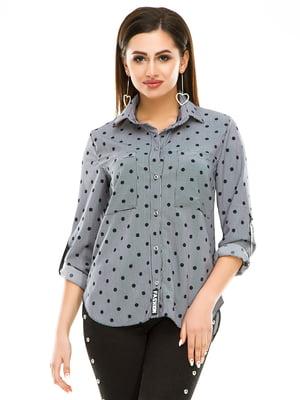Рубашка в полоску и горошек | 4937162