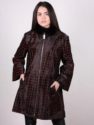 Пальто черное в гусиную лапку   4936860