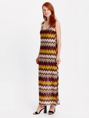 Платье в зигзагообразную полоску | 4943362