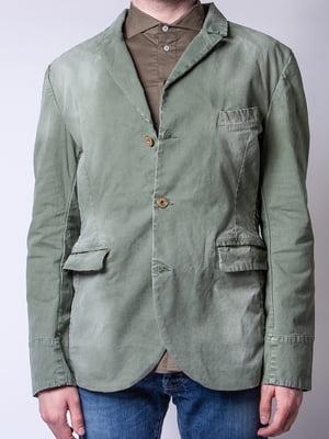 Пиджак оливкового цвета | 4947953