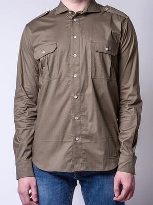 Рубашка цвета хаки | 4947994