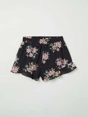 Шорти чорні в квіти   4938759