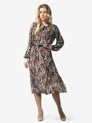 Сукня анімалістичного забарвлення | 4948231