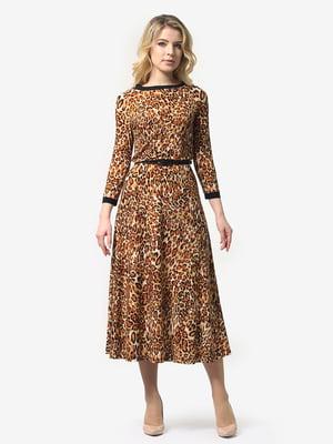 Платье анималистической расцветки | 4948240