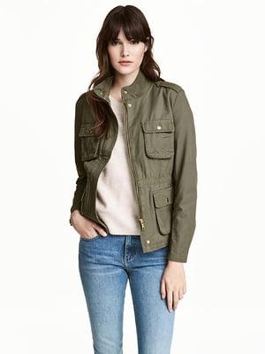 Куртка кольору хакі | 4936935