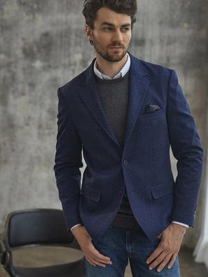 Пиджак синий в горошек | 4949957