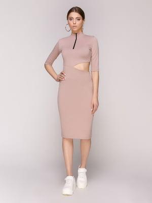 Платье фрезового цвета | 4932387