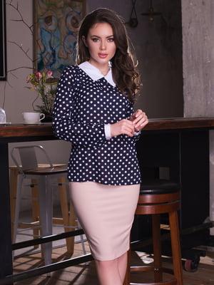 Блуза темно-синяя в горох | 2634928