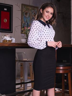 Блуза белая в принт | 2634929