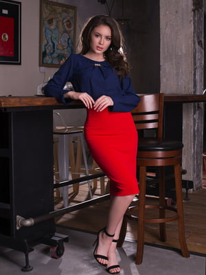 Блуза темно-синяя | 2634963