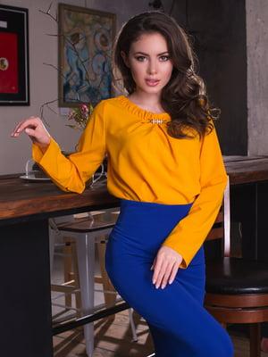 Блуза горчичного цвета | 2634965